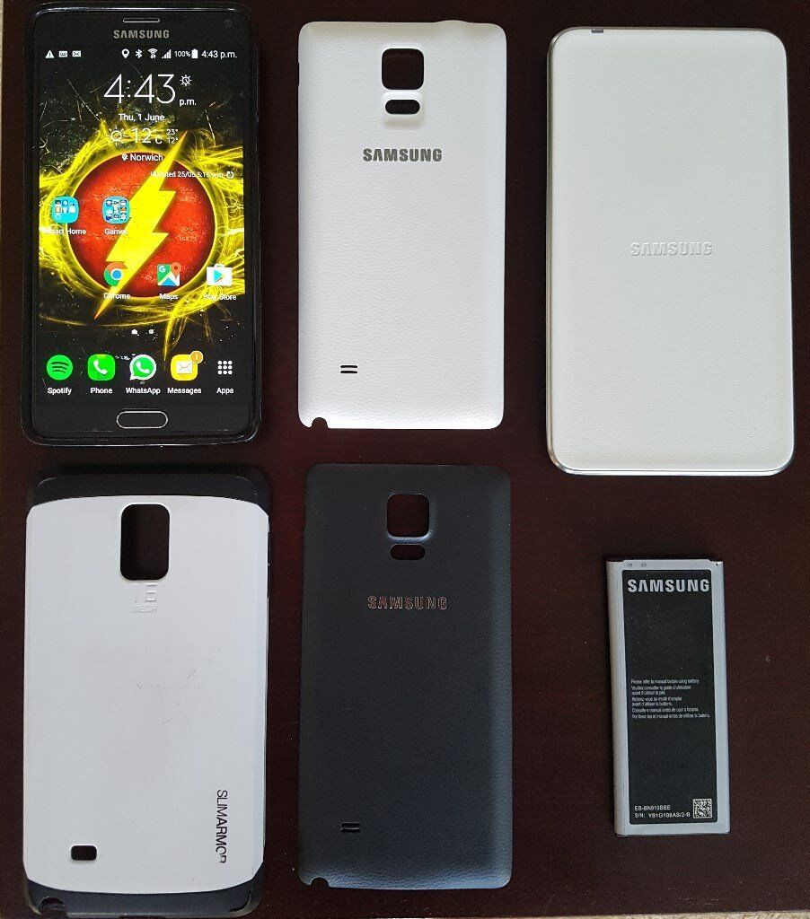 Wireless Charging Samsung Galaxy Note 4 with Extended Battery | in ...