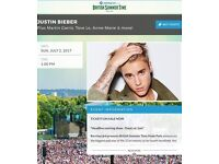 Justin Bieber Pitch Standing British Summer Time Hyde Park Tickets ; 02/07/16 **SOLD OUT**