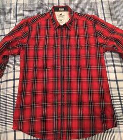 Jack Jones Red Check Shirt - Size L - £10