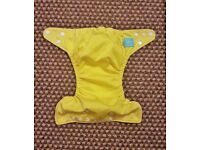 Charlie Banana One Size Cloth Nappy with 2 inserts | SUNSHINE YELLOW | £20 | GREAT COND | Rawmarsh