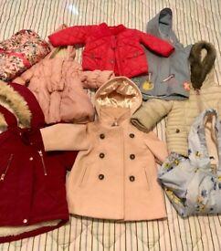 Baby girl coats and jackets bundle