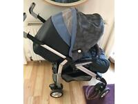 Silver Cross Stroller Buggy Back Lays Out Flat