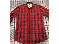 Jack Jones Red Check Shirt - Size L - £10
