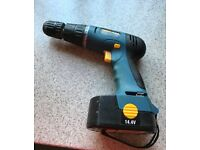 WORKZONE CORDLESS HAMMER DRILL 14.4v WITH NO CHARGER