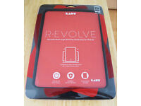 Laut R-Evolve Rotating Smart Folio Case/Cover for iPad Air 2 - Red [FREE IPad Air 2 Bag & Mousepad]