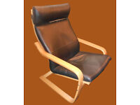 IKEA POANG brown leather, CAN DELIVER