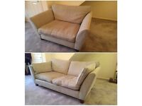 2 x small sofas : M&S Marks and Spencer Barletta, two seater and love seat