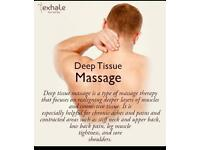 Professional Deep Tissue, Relaxing and Sports massage