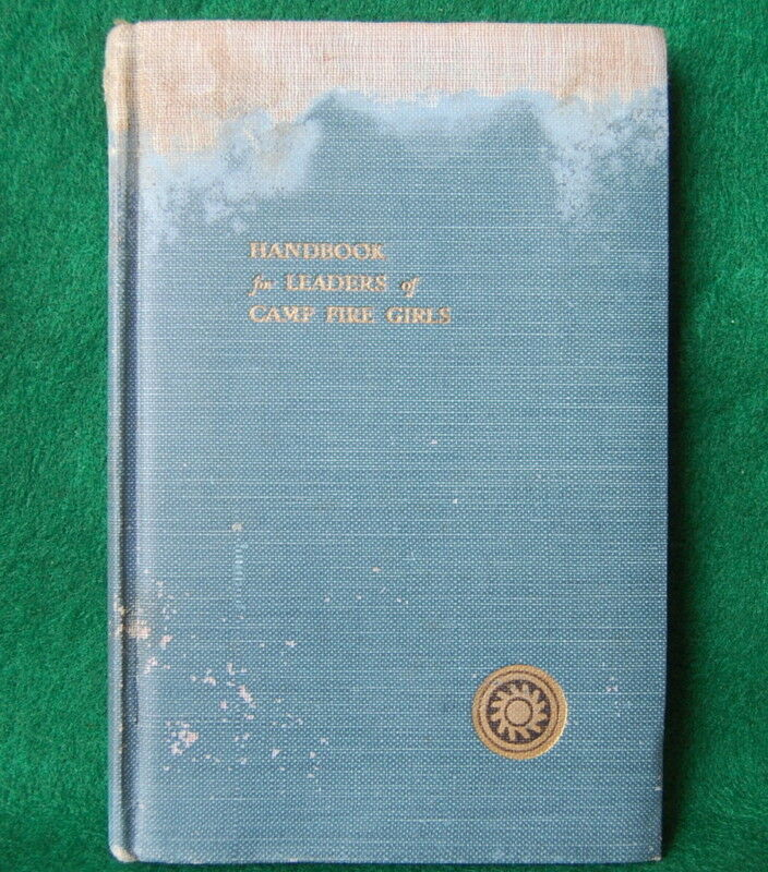 1928 CAMPFIRE GIRL HANDBOOK FOR LEADERS - NOT SCOUT