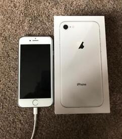Unlocked iPhone 8 256GB Silver in Pristine Condition