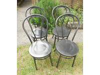 Garden or Patio Steel Chairs - Thonet Bentwood Style - £40 a pair
