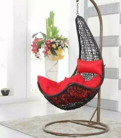 Single hanging garden egg chair - never used