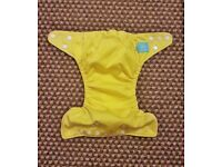 Charlie Banana One Size Cloth Nappy with 2 inserts | SUNSHINE YELLOW | £20 | GREAT CONDITION | Leeds