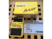 Boss ODB-3. Bass guitar overdrive pedal. Boxed.
