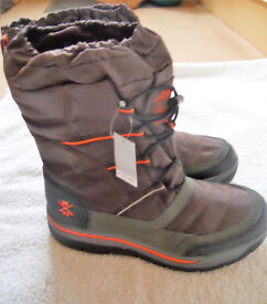 Boys BNWT brown snow/winter boots size UK 4/37 from NEXT