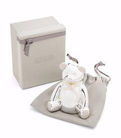 Mamas & Papas Silver Plated Bear Money Box