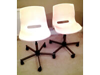 2 x Swivel chair IKEA SNILLE White