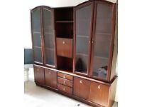 mahagony display cabinet