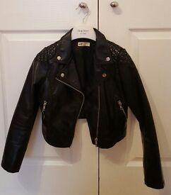H&M Girls Studded Leather Jacket