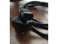QUALITY!!! 3 Pin Computer / MONITOR / TV Power Lead / Cable!!! BARGAIN!! Only £5!!! SAFETY Compliant