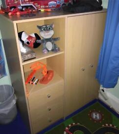 Wardrobe & shelf
