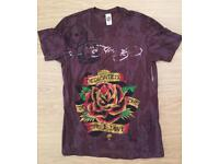 Brand new vintage Ed Hardy men's T-shirt. Brown. Medium. Dedicated design. Decorated in rhinestones