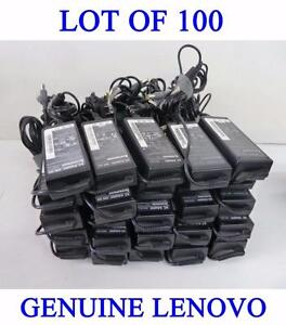 Lot of 100 x Genuine Original Lenovo 20V 4.5A 90W Adapters Chargers (2007-2013 models)