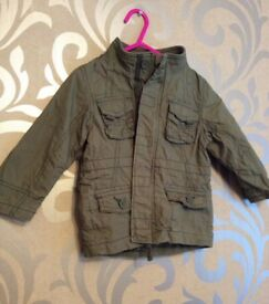 BRAND NEW KHAKI JACKET FROM NEXT - 12-18 MONTHS