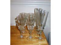 10 LOVELY CUT GLASS GLASSES