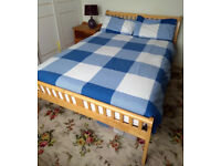 Double pine framed bed