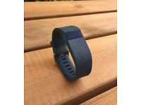 Small - Fitbit Charge HR Heart Rate & Activity Wristband - Blue