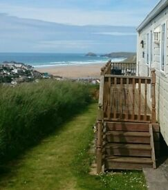Caravans for hire in perarranporth,the best on site,best views of perranporth,platuim plus rated ,