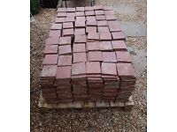 Reclaimed red quarry tiles. 15 sq metres. Medway in Kent.