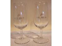 Vintage Remy Martin fine champagne cognac stemmed glasses x 1 pair. Excellent condition. £5 both.