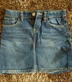 Girls denim skirt gap age 10