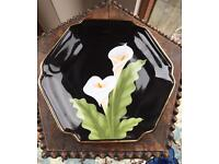 Japanese Gilded Plate with Lily design
