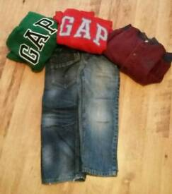 Boys jumpers & jeans age 5 years
