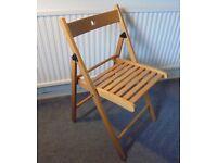 Folding Beech Chair