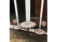 Patio Garden Mosaic Table & Chairs