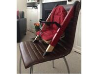 Minui / Stokke handysitt handy sitt High Chair highchair Booster seat in red