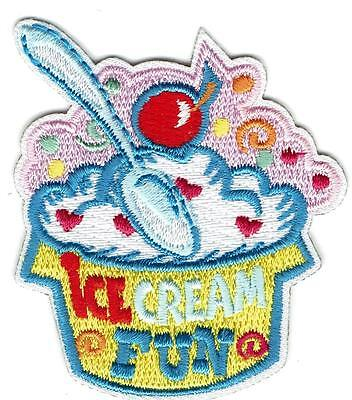 Girl Boy Cub ICE CREAM SUNDAE Treats Party Fun Patches Crests Badges SCOUT GUIDE ()