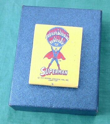 Vintage 1972 Matchbook Cover Amazing World Of Superman w/ Coupon Metropolis Ill.](Supermans City)