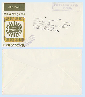 Papua New Guinea c1970 Postage Paid Handstamp Cover to Washington USA