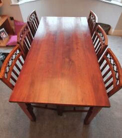 Laura Ashley dining table and chairs & matching Mirror