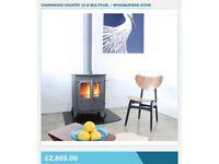 Charnwood muitifuel woodburning stove with back boiler