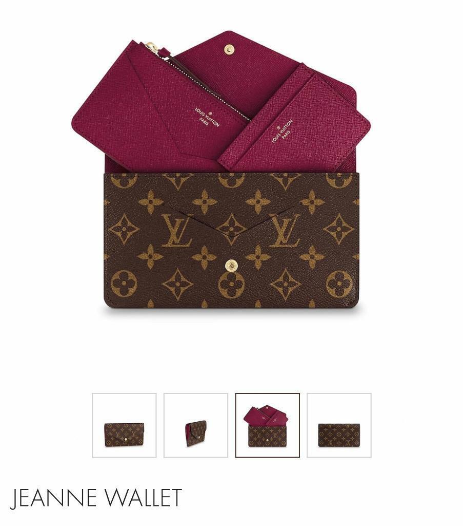 4c35e0d71102 Louis Vuitton Jeanne wallet