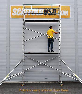 Scaffold Usa 14 Ft Single Wide Aluminum Mobile Scaffold Tower