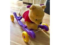 Winnie the Poo Ride along Rocker with Wiggling Nose