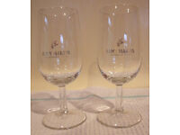 Vintage Remy Martin fine champagne cognac stemmed glasses x 1 pair. £5 ovno for the pair.