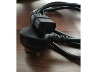 QUALITY!!! 3 Pin Computer Power Lead / Cable !!! BARGAIN!! Only £5!!! SAFETY Compliant